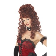 Saloon Madame Adult Wig - Auburn