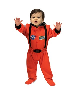NASA Jr. Astronaut Suit Orange Infant Costume