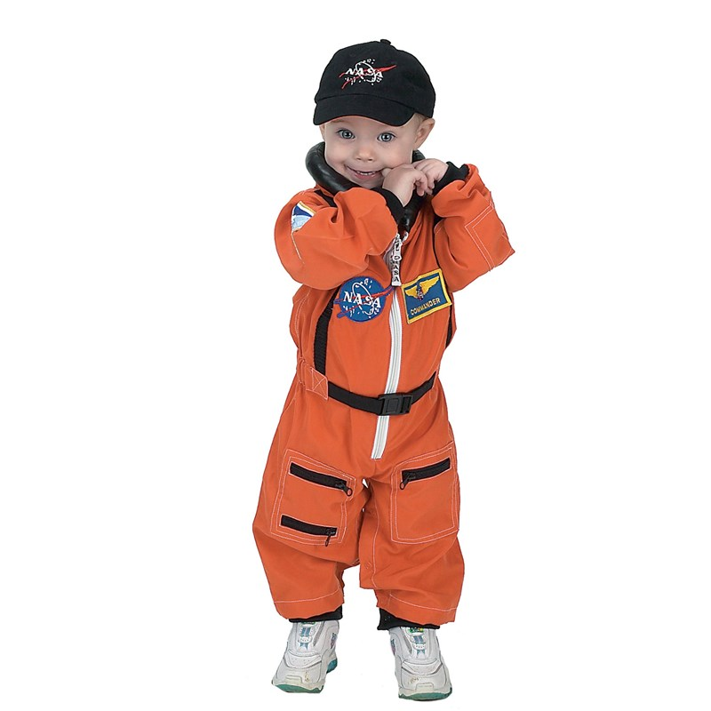 NASA Jr. Astronaut Suit Orange Toddler Costume for the 2015 Costume season.