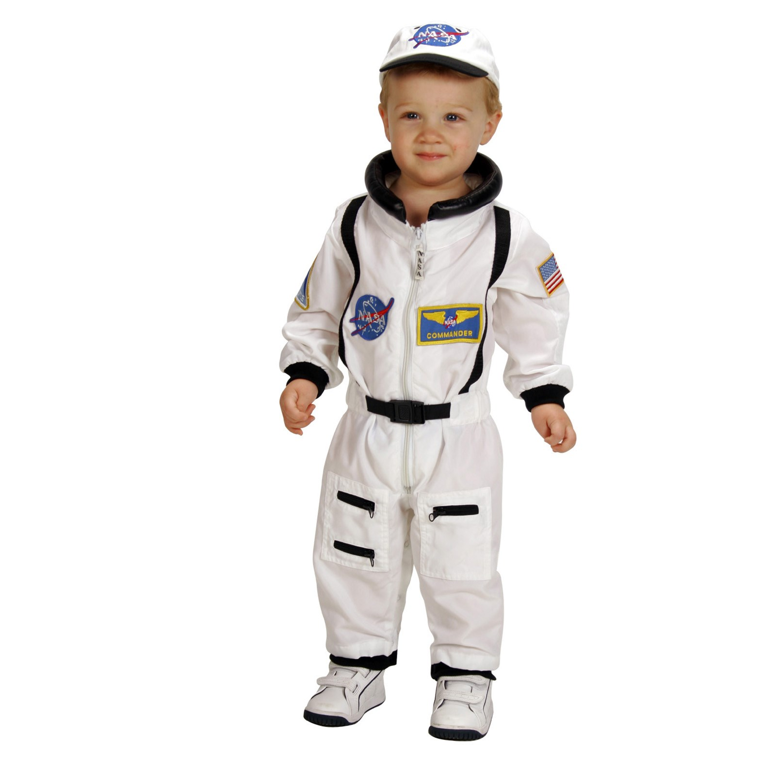 NASA Jr. Astronaut Suit White Toddler Costume