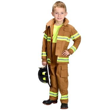 Jr. Fire Fighter Suit Tan Child Costume