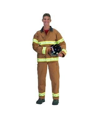 Fire Fighter Suit Tan Adult Costume