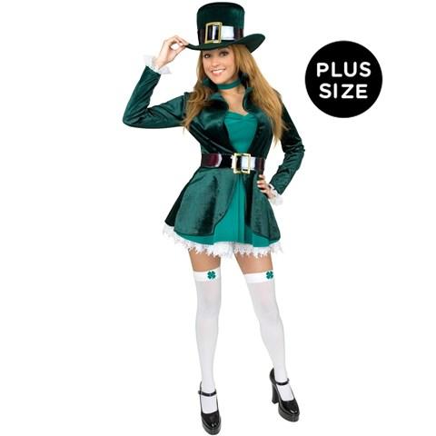 Sexy Leprechaun with Hat Adult Plus Costume
