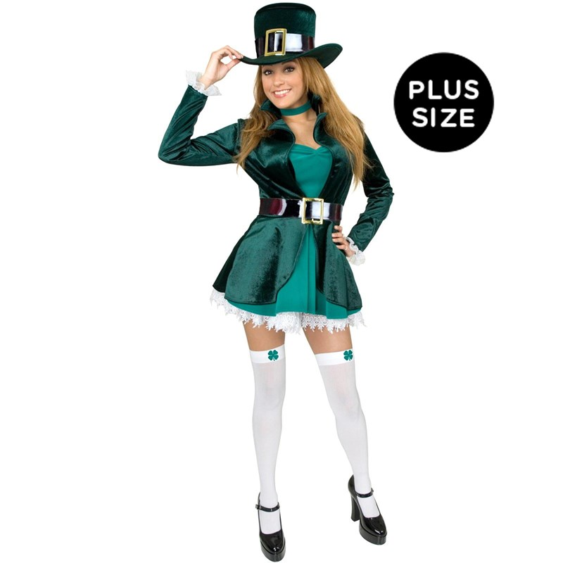 Sexy Leprechaun with Hat Adult Plus Costume for the 2015 Costume season.