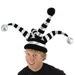 Wacky Jester Hat - Black/Silver
