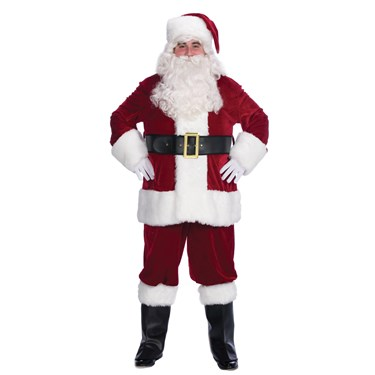 Velvet Complete Santa Costume - Adult