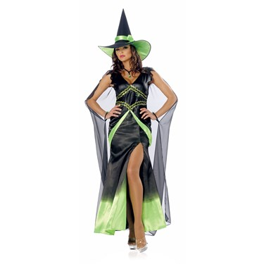 Fabulous Witch Green Adult Costume