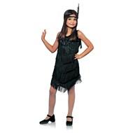 Flapper Child Costume - Black