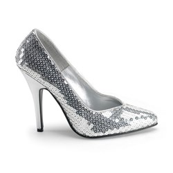 Silver Sequin Adult Shoes