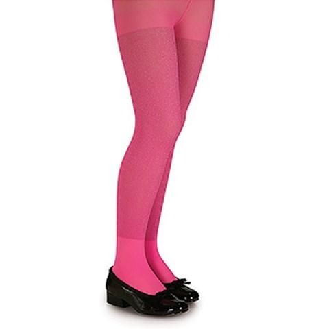Pink Glitter Tights - Child