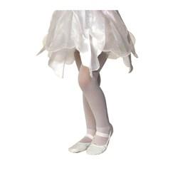 White Sparkle Tights - Child