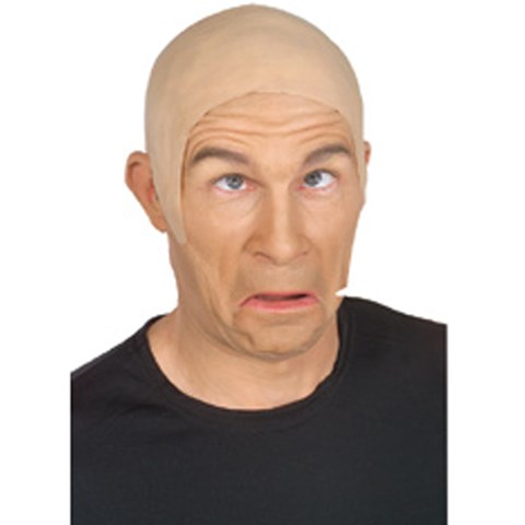 Latex Flesh Bald Head