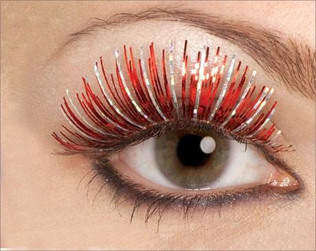 Red Fake Eyelashes for the 2015 Costume season.