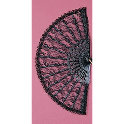 Lace Fan 9 (Black)