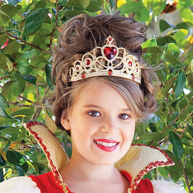 Red and Gold Princess Child Tiara for the 2015 Costume season.