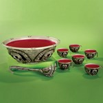 8 Piece Skull Punch Bowl Set