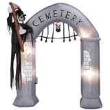 9' Airblown Archway - Cemetery Gate with Reaper