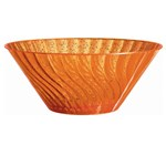 11 Orange Glitter Bowl