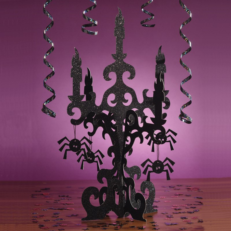 3D Glitter Candelabra Centerpiece for the 2015 Costume season.