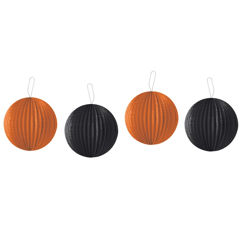 Orange and Black Lanterns Asst. (4 count) for the 2015 Costume season.