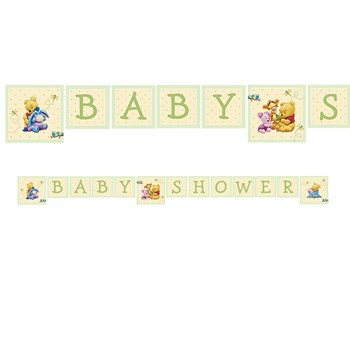 Pooh's Baby Days Plastic Banner