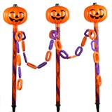 Pumpkin Stake Lights with Link Lights (3 count)