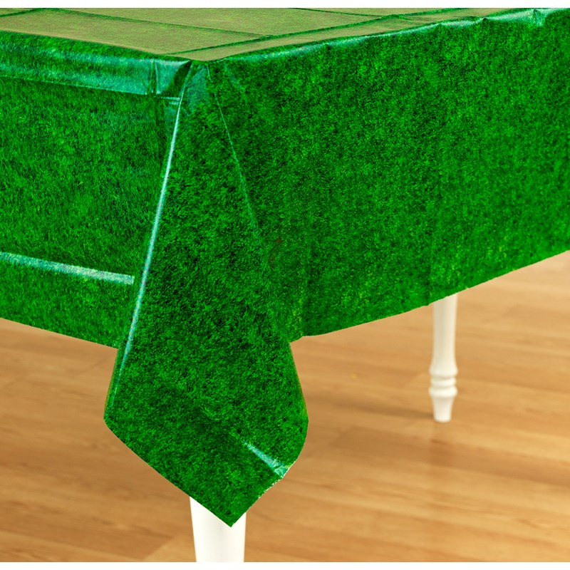Green Grass Plastic Tablecover for the 2015 Costume season.