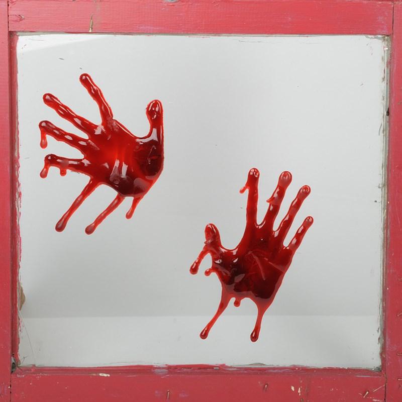 Bloody Hands 3D Splatz Clings for the 2015 Costume season.