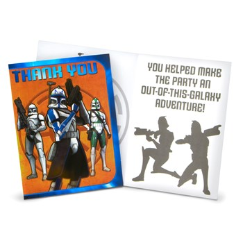 Star Wars: The Clone Wars Thank You Cards
