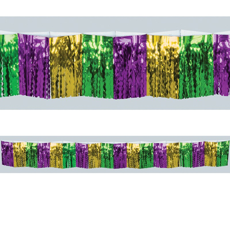 12 Mardi Gras Foil Fringe Drape for the 2015 Costume season.