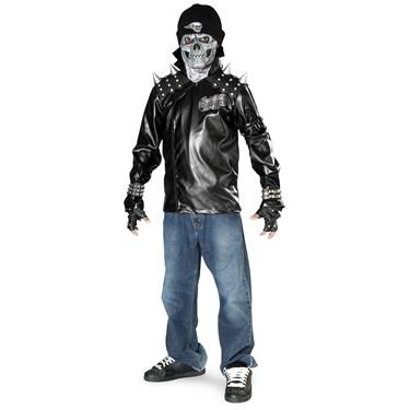 Metal Skull Biker Child Costume