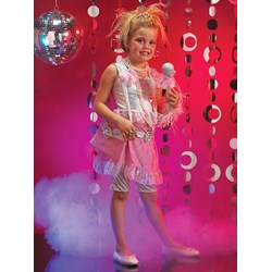 Pink and Silver Diva Child Costume