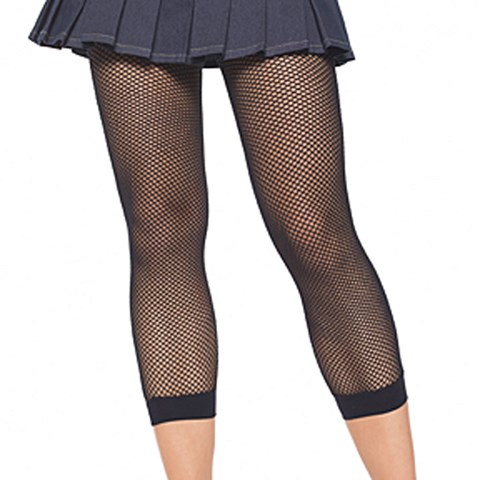 Fishnet Footless Tights (Black) Adult