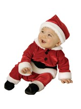 Click Here to buy Velvet Santa Baby & Toddler Costume from BuyCostumes