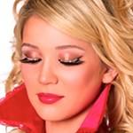 Eyelashes with White Crystals