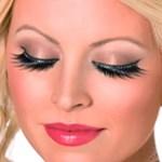 Eyelashes with Black Crystals
