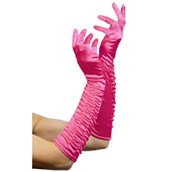 Temptress Long Fuchsia Gloves Adult