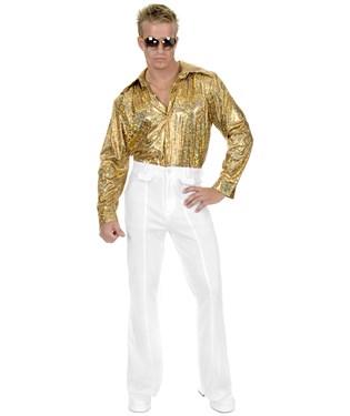 White Disco Pants Adult Plus