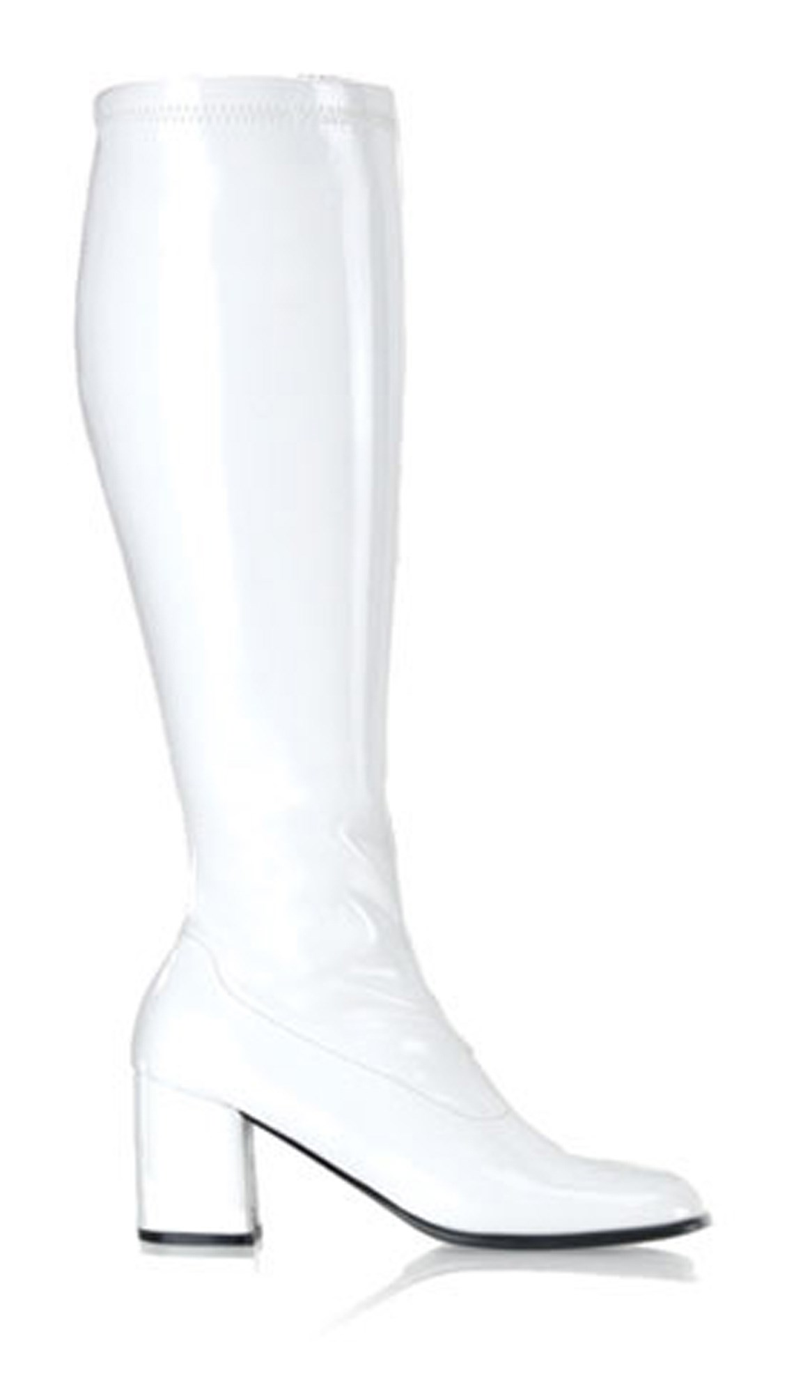 Gogo White Adult Boots - Wide Width