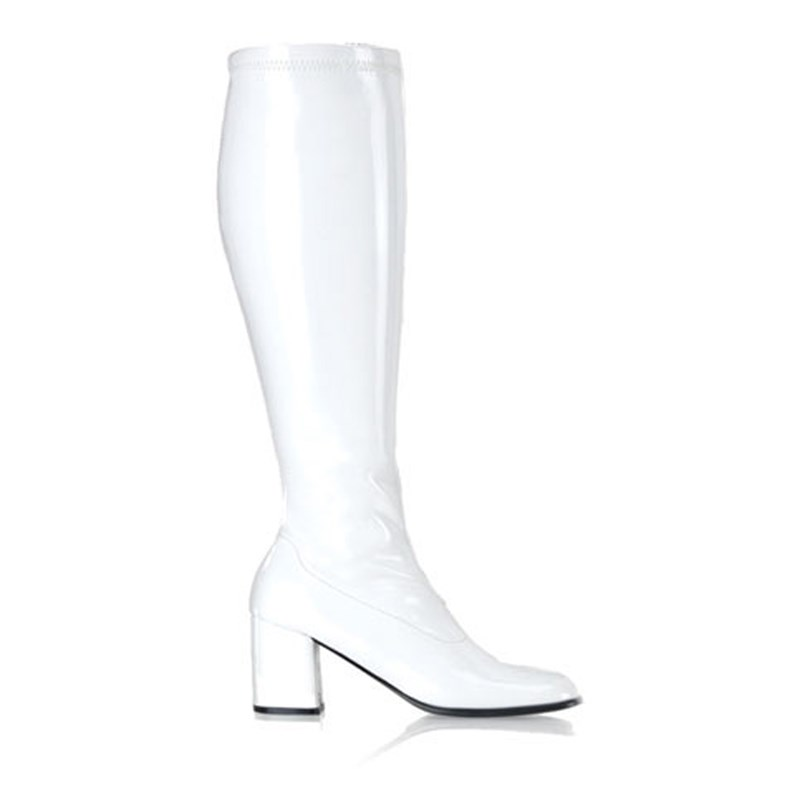 Gogo (White) Adult Boots   Wide Width for the 2015 Costume season.