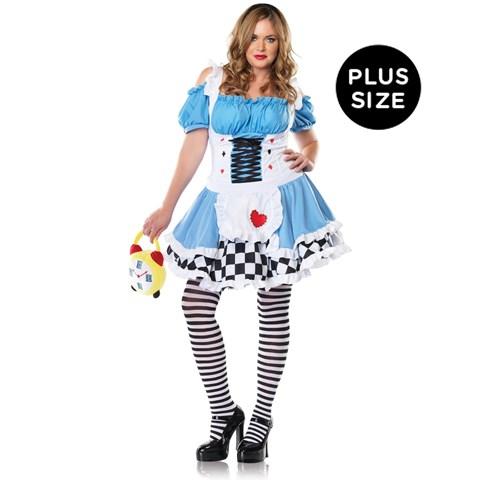 Miss Wonderland Adult Plus Costume