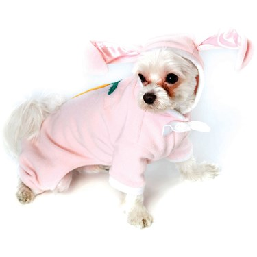 Fluffy Bunny PJ's Dog Costume