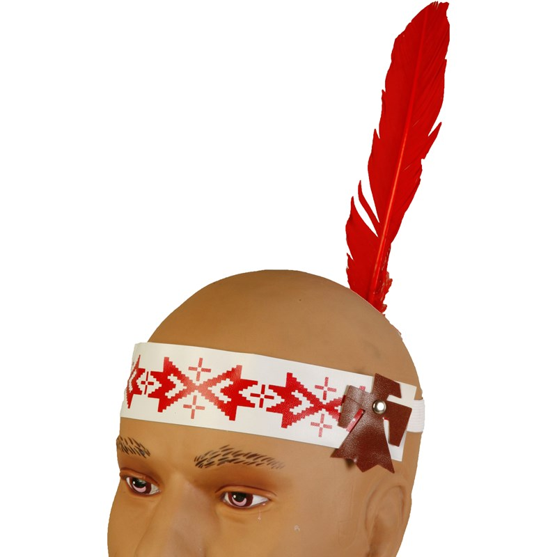 Indian Headband with Feather for the 2015 Costume season.
