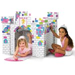 cardboard castle for coloring at a princess party