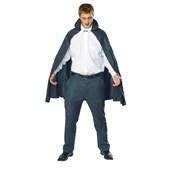 45 Inch Black Taffeta Cape Adult Costume