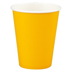 School Bus Yellow (Yellow) 9 oz. Paper Cups (24 count)