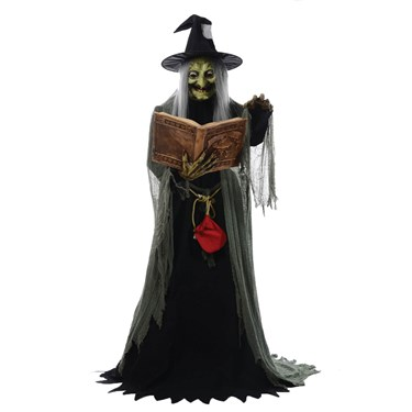 5' Animated Spell Casting Witch with Lights & Sound