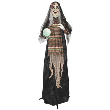 5' Animated Standing Fortune Telling Witch with Lights & Sound
