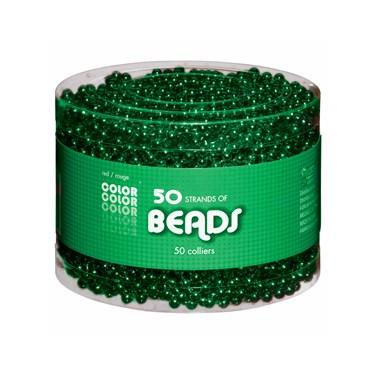 50 Piece Green Bucket of Beads