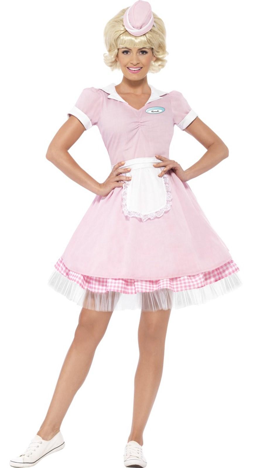 50s Diner Girl Costume For Women